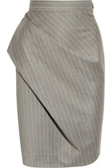 Vivienne Westwood Anglomania Philosophy pinstripe wool pencil skirt