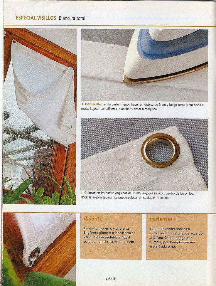 64 best diy blancos images on pinterest blinds sewing - Como confeccionar cortinas ...