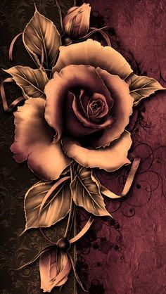 rustic rose and feather tattoo - Google Search