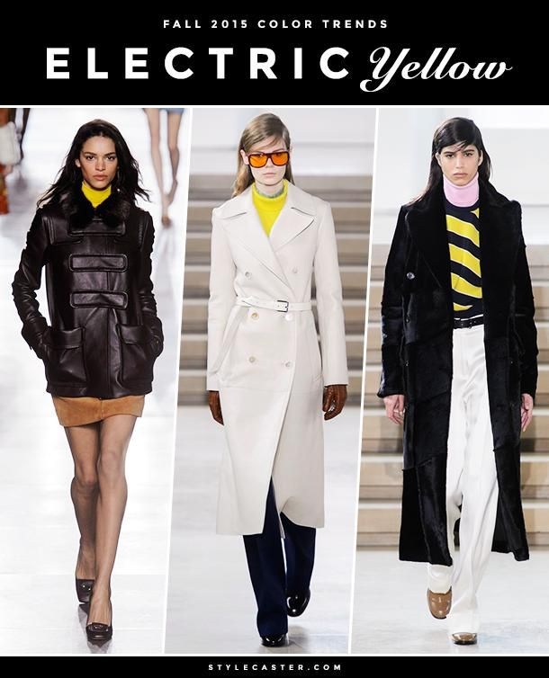 8 Major F/W 2015 Color Trends To Inspire Your Fall Outfits - Electric Yellow