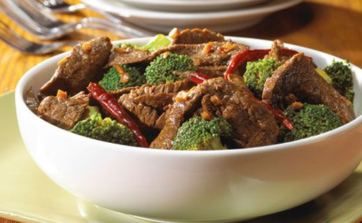 Lunch/Dinner: Epicure's Asian Beef Stir-fry (330 calories/serving) serve with brown rice or rice noodles