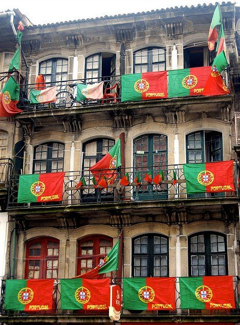This is how much portuguese people love football national team!  Travel to Porto in Portugal to enjoy the architecture and beauty of the city.  --  Have a look at http://www.travelerguides.net