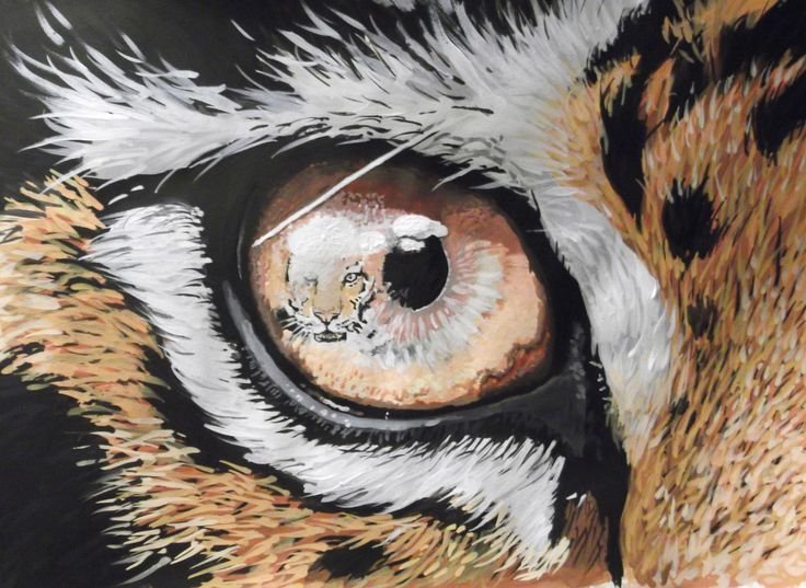 """Tiger eye reflection"" Watercolour. Painted 2012"
