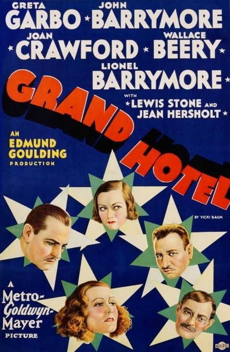 Talk about an all-star cast! 1932's Grand Hotel. #vintage #movies #posters #1930s