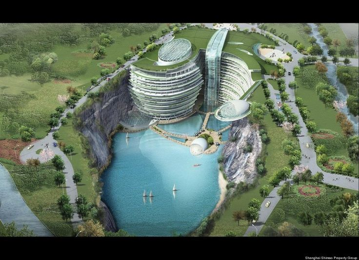 China's Luxury Underground Hotel To Open In 2014Hotels Open, Underground Hotels, Favorite Places, Abandoned Quarry, Intercontinental Shimao, China Luxury, Architecture, Intercontin Shimao, Luxury Hotels