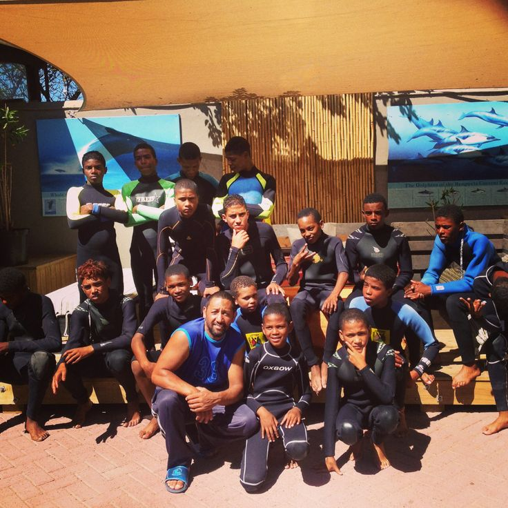The kids from village care centre before their surf Surfshack supported by Billabong SA