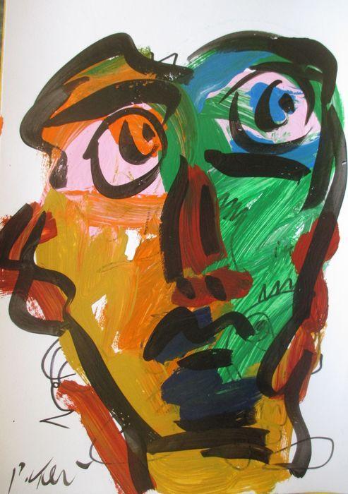 Peter Keil - Overpainting - roze ogen  PETER KEIL ( 1942) Overpainting - roze ogenAcryl bij het schilderen boord met de hand gesigneerd linksonder 50x35cm met houten frame en een certificaatHerkomst: rechtstreeks vanuit zijn Studio (certificaat van Echtheid)Slechts verzekerde verzending.Opmerking met betrekking tot het beeld:Gelieve te begrijpen dat om technische redenen kan er een verschil in kleur tussen de afbeelding en het origineel.  EUR 110.00  Meer informatie