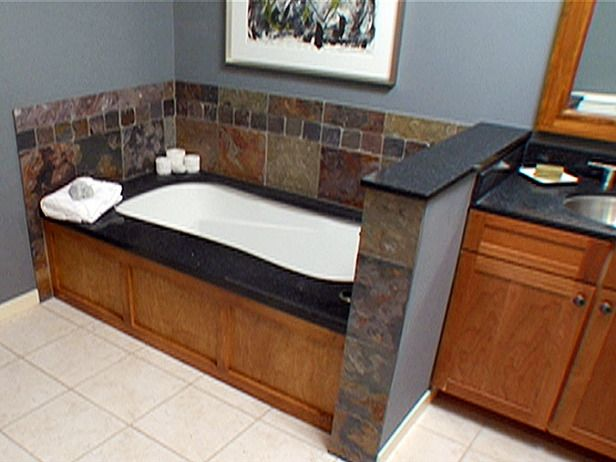 DIY Custom Wood Bathtub Surround...could Be Painted To Coordinate With The  Room
