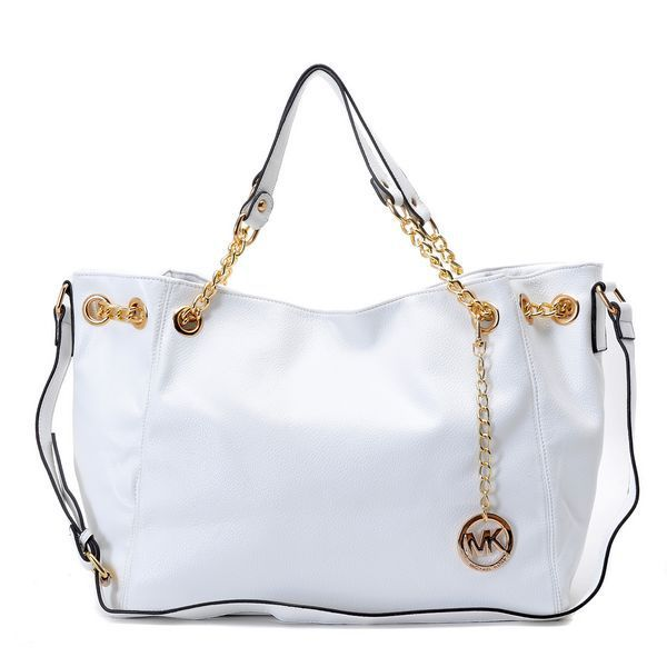 Michael Kors bags and Michael Kors handbags Michael Kors Jet Set Chain  Medium Gather Shoulder Tote Dove White 113