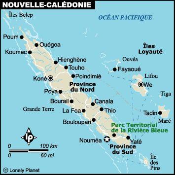 Carte nouvelle-caledonie détaillée