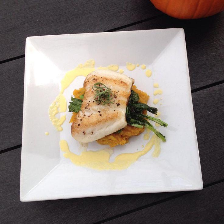 Sea bass over squash puree recipe. CLICK TO WATCH: https://youtu.be/GClhGjbj8Vs?t=19m21s #SeaBass #SquashRecipe