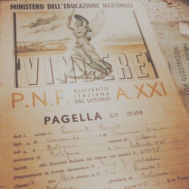 Un tuffo nel passato della nonna Renata, che emozione leggere la sua pagella #turismoer #apranzoconTER #memories - Instagram by lanuvolettadivivienne