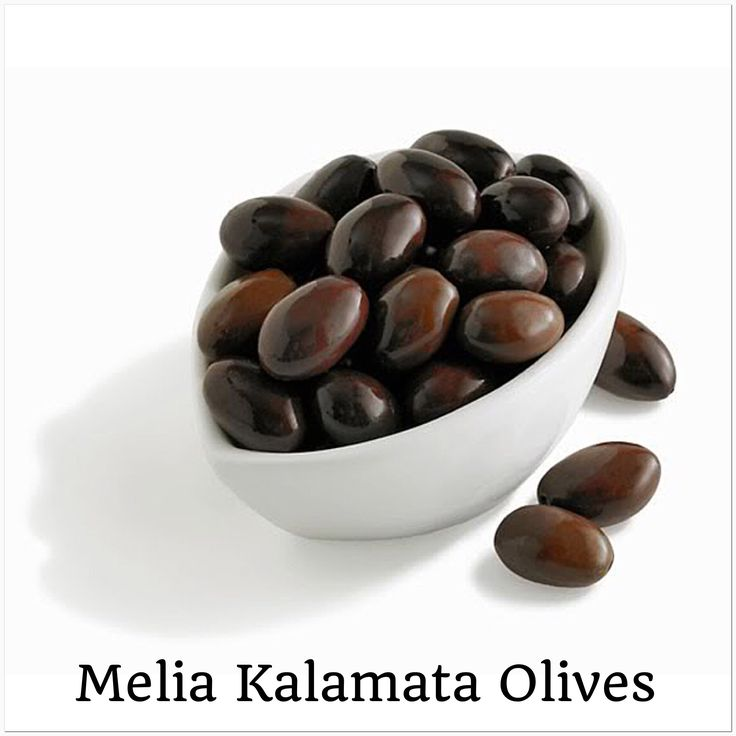 Melia Freshline Kalamata Olives. This unique type of olive derives it's name from the region of Kalamata where it currently grows. They are selected for their sweetness, their rich flavor and their difference in appearance. Plastic barrel (12kgr.) for all four varieties of Kalamata Olives, Large, Extra Large, Jumbo and Colossal. (http://www.meliafresh.com)