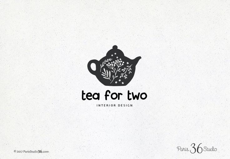 Hand Drawn Style Tea Pot Logo Design by Madame Levasseur, The Paris Studio #LogoDesign #Wordpress #Website  #boutique #Branding #restaurant #photography #ecommerce #etsyshop #ebay header design