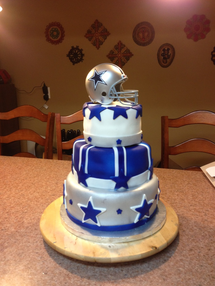 Dallas cowboys baby shower cake for hopefully future ladusch baby!!