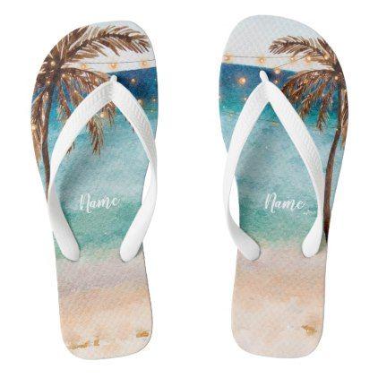 893c0228e6998 tropical summer beach scene palm trees flip flops - bridal shower gifts  ideas wedding bride