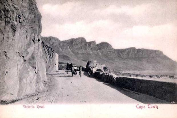 Cape Town, Victoria Road, vintage postcard