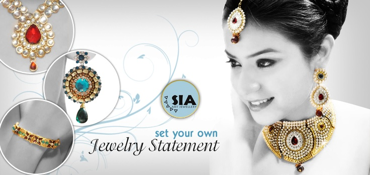 #Sia #jewellery offers a wide range of products from rasrawa, kundan, American diamonds, Victorian & imitation comprising of necklace sets, pendants sets, earrings, bangles & more for every occasion.    http://www.snapdeal.com/products/jewelry/?q=Brand%3ASia_source=Fbpost_campaign=Delhi_content=Pinterest_medium=151012_term=Prod
