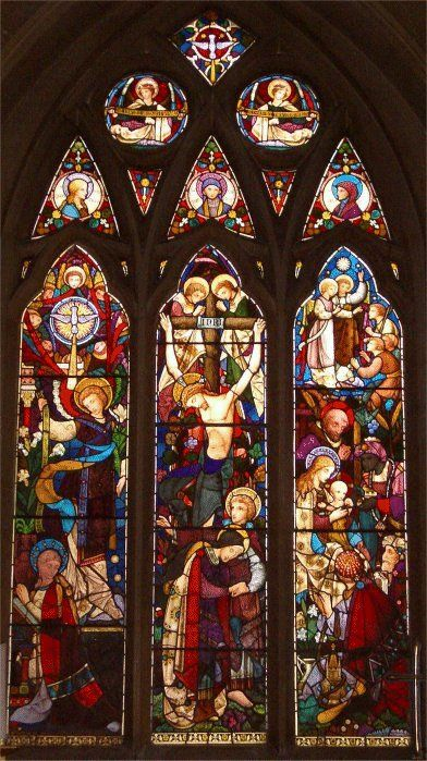 Lady chapel window - St. Mary's Church, Osterley, West London. Window made and designed by Heaton, Butler & Bayne.
