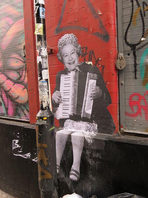 Shoreditch street art - Mr Dot Farenheit.....Lizzie moonlights....