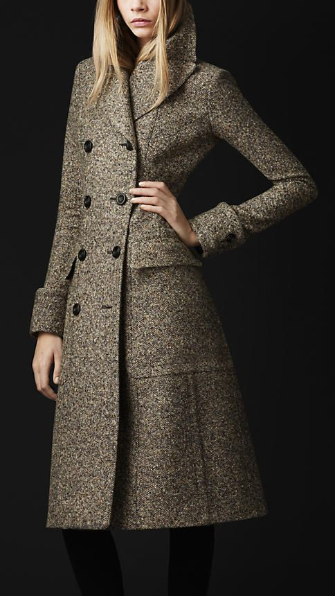 Wool Silk Tweed Greatcoat | Burberry