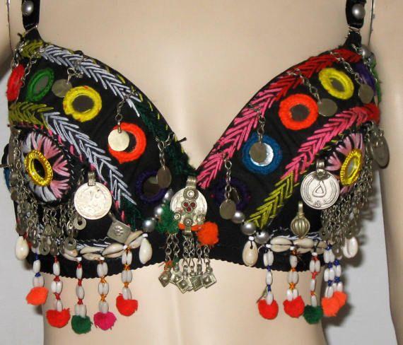 Tribal bra Belly dance Tribal kuchi bra Tribal belly dance