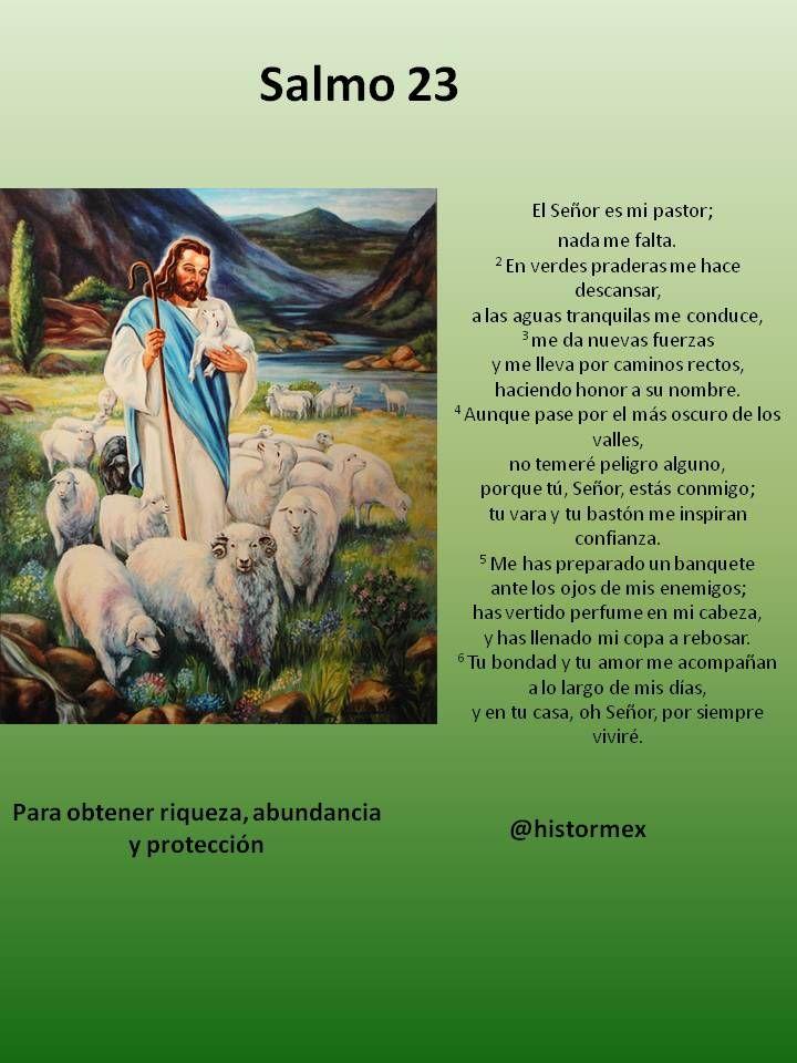 Versiculos De La Biblia De Animo: Salmo 23 Para Obtener Riqueza Y Protección