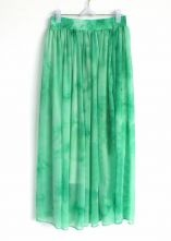 Green+Elasic+Waist+Chiffon+Skirt+$30
