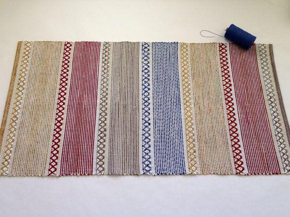 Handwoven Swedish Rosepath Rag Rug You Can Start by WarpedforGood