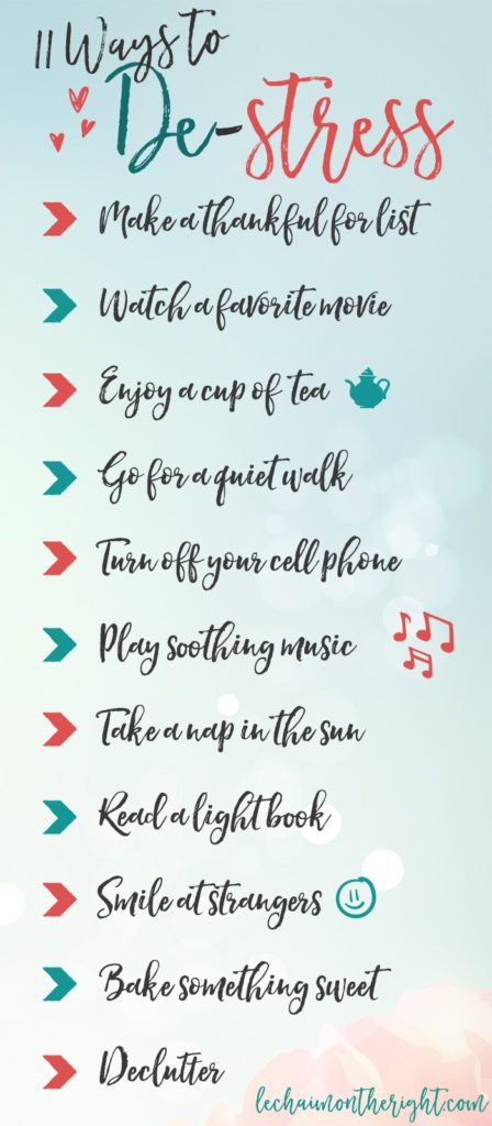 11 Ways to #Destress after a long day!