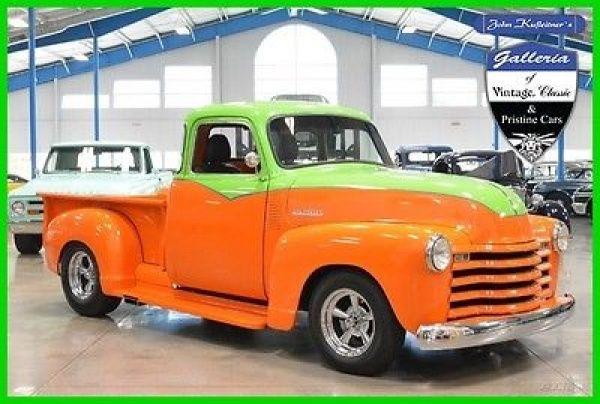 Chevrolet: Other Pickups 1950 chevrolet truck 1 2 ton 3100 350 cid v 8 auto trans resto mod 5 window chevy
