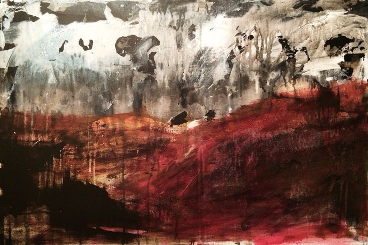 'Wild Red' - Acrylic on board... This work will be available at Ffin Y Parc Gallery in 2015 www.welshart.net