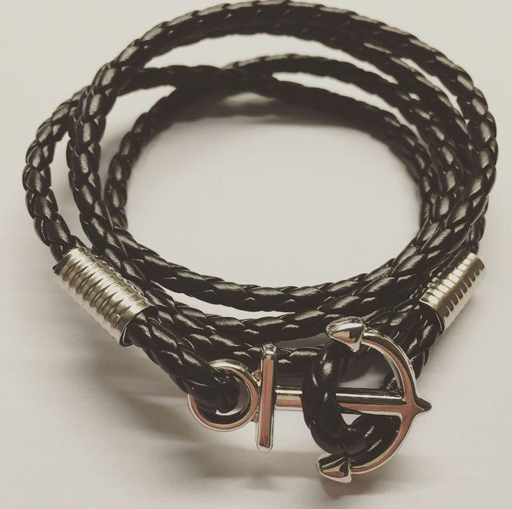 Läderarmband Anchor