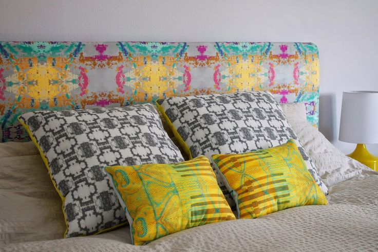 Update your master bedroom, guest bedroom or kids room with a totally unique upholstered headboard. Click through for the tutorial from Hello Beautiful.