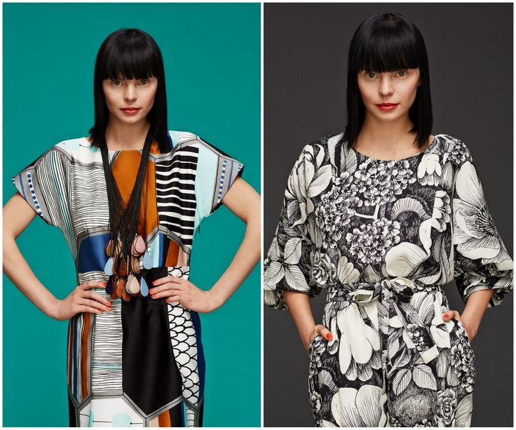 Finnish fashion brand Marimekko AW13 collection: Kimpi dress & Lauju dress. Click to see more: www.fashionflashfinland.com !