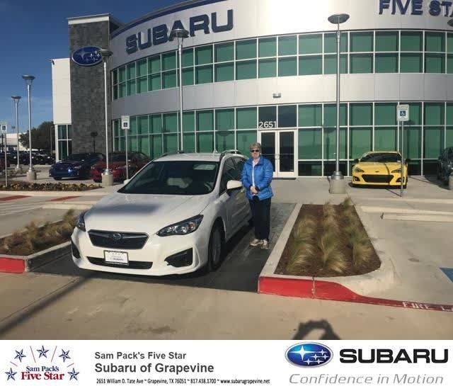 Congratulations Linda on your #Subaru #Impreza from Freddie Valdovinos at Five Star Subaru of Grapevine!  https://deliverymaxx.com/DealerReviews.aspx?DealerCode=M315  #FiveStarSubaruofGrapevine