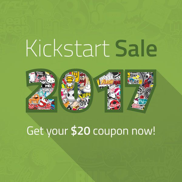 Don't Miss Out! KickStart Sale Will End Today! Order Stickers Now & Get The Chance To Grab $20 Coupon!