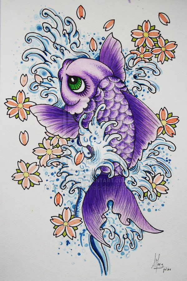 koi fish drawings | Koi Fish by margaridavinhais on deviantART