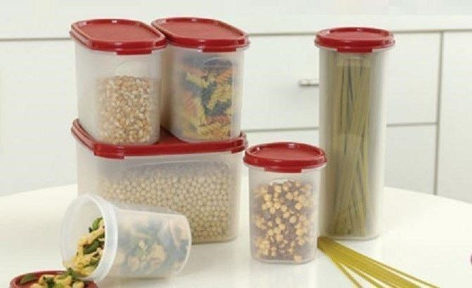 New Promotion Tupperware Modular Mates 6pc Oval Square Round Cranberry Set