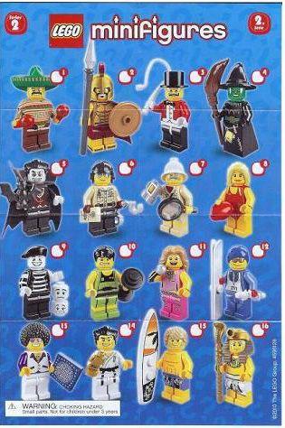 8684-0: LEGO Minifigures Series 2 Checklist