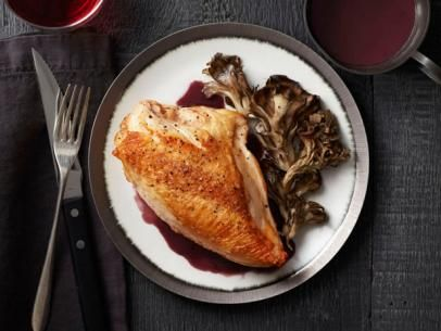Roast Chicken and Mushrooms with Red Wine SauceSauces Recipe, Food Network, Sauce Recipes, Roast Chicken, Network Kitchens, Roasted Chicken, Chicken Breast, Red Wines, Wine Sauces