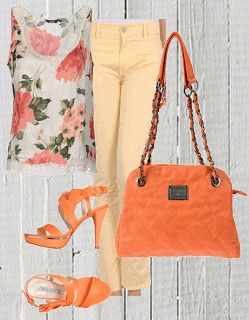 Easy chic -look color pesca-