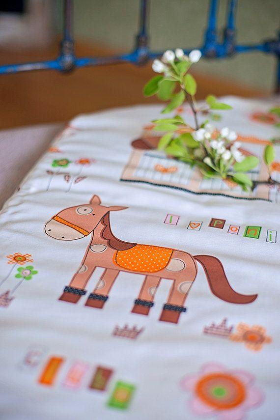 Baby Swaddle Wrap - Baby Sleeping Bag - Baby Sleep Sack - Baby Blanket - Baby Shower Gift - Gift Idea - Orange Horse - Horses - Nursery Room