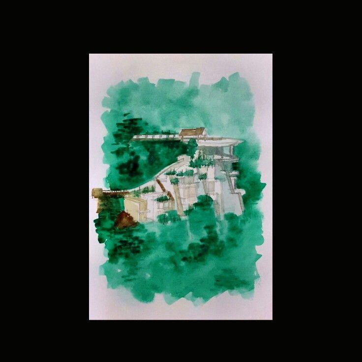 Mulai lagi | watercolor on paper