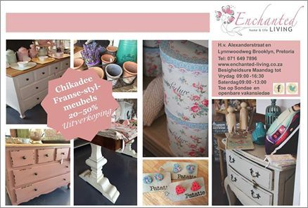 Chickadee French style furniture savings now on!