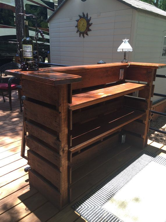 PAllET BAR / TIKI BAR   February Sale  The by DrgWoodCreations