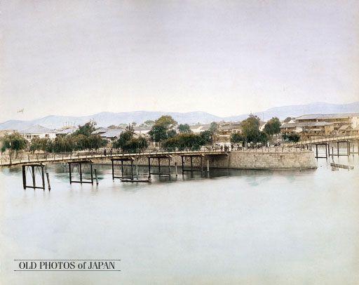 OLD PHOTOS of JAPAN: 難波橋 1880年代の大阪