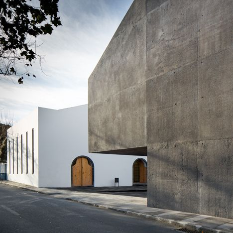 Contemporary arts centre on a Portuguese isle contrasts volcanic stone with concrete - via Dezeen 11.02.2015 | Located on São Miguel, the largest of the volcanic islands that make up Portugal's Azores archipelago, the Arquipélago Contemporary Arts Centre is as a museum of art and culture related to the heritage of its location. Photo: