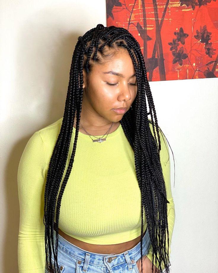 """houston braider on instagram """"medium knotless braids"""