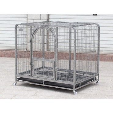 Collapsible Pet Cage Crate with Wheels XXL